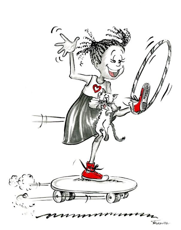 Girl Power - Whimsical Children's Book Illustrations by Joana Miranda
