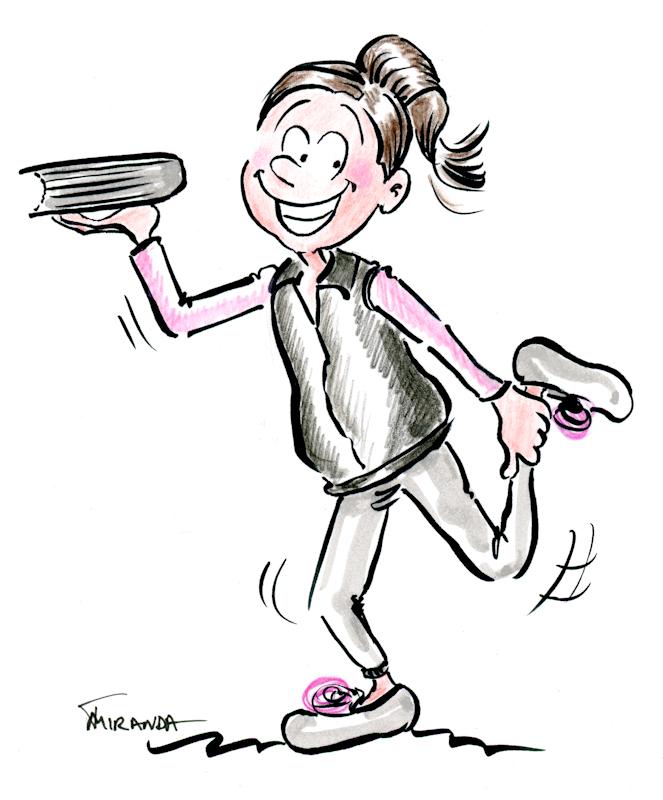Cartoon illustration of the author enjoying a healthy lifestyle without Social Media, by Joana Miranda