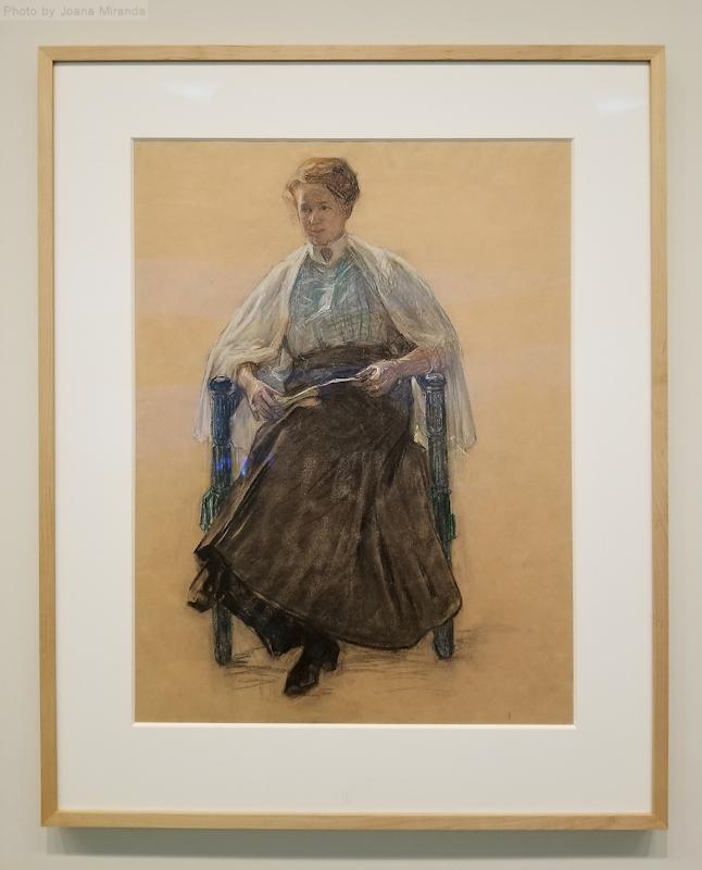 Hilma af Klimt early portrait of a seated woman, photo by Joana Miranda