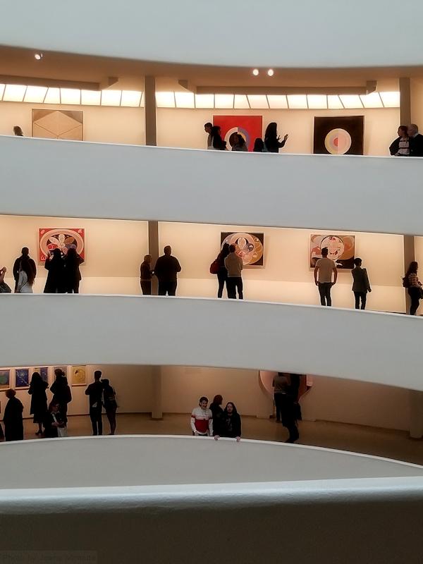 Hilma af Klimt exhibition at the Guggenheim, photo by Joana Miranda