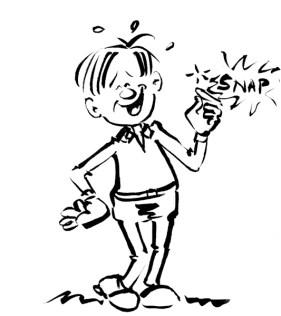 Laughing man cartoon from my sketchbook by Joana Miranda