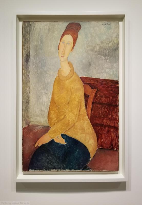 Modigliani painting at the Guggenheim museum, photo by Joana Miranda