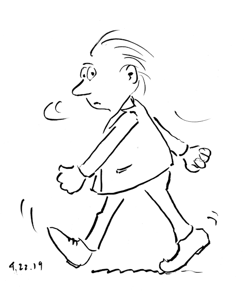 Funny Drawings-Man-Walking-with-Purpose-by-Joana-Miranda