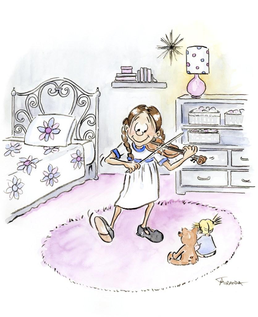 Alone - Children's Illustration art by Joana Miranda