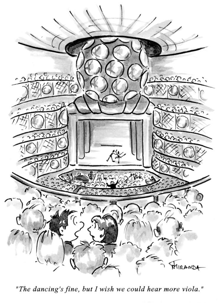 Koch Theater New York City Ballet cartoon by Joana Miranda
