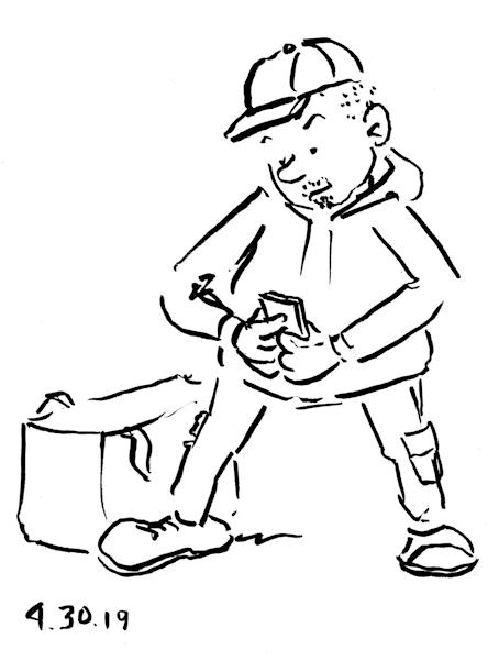 Funny Drawings Quick-cartoon sketch-of-delivery-man-by-Joana-Miranda