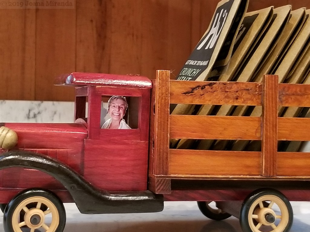 Funny-photo-of-a-chocolate-truck-being-driven-by-my-mother-taken-by-Joana-Miranda