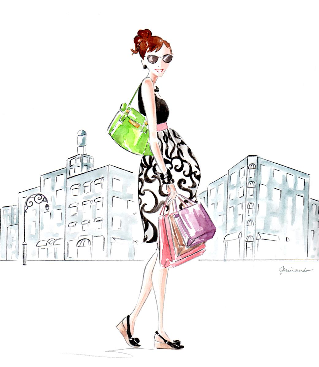 Custom banner illustration for Working Moms to Be website by Joana Miranda