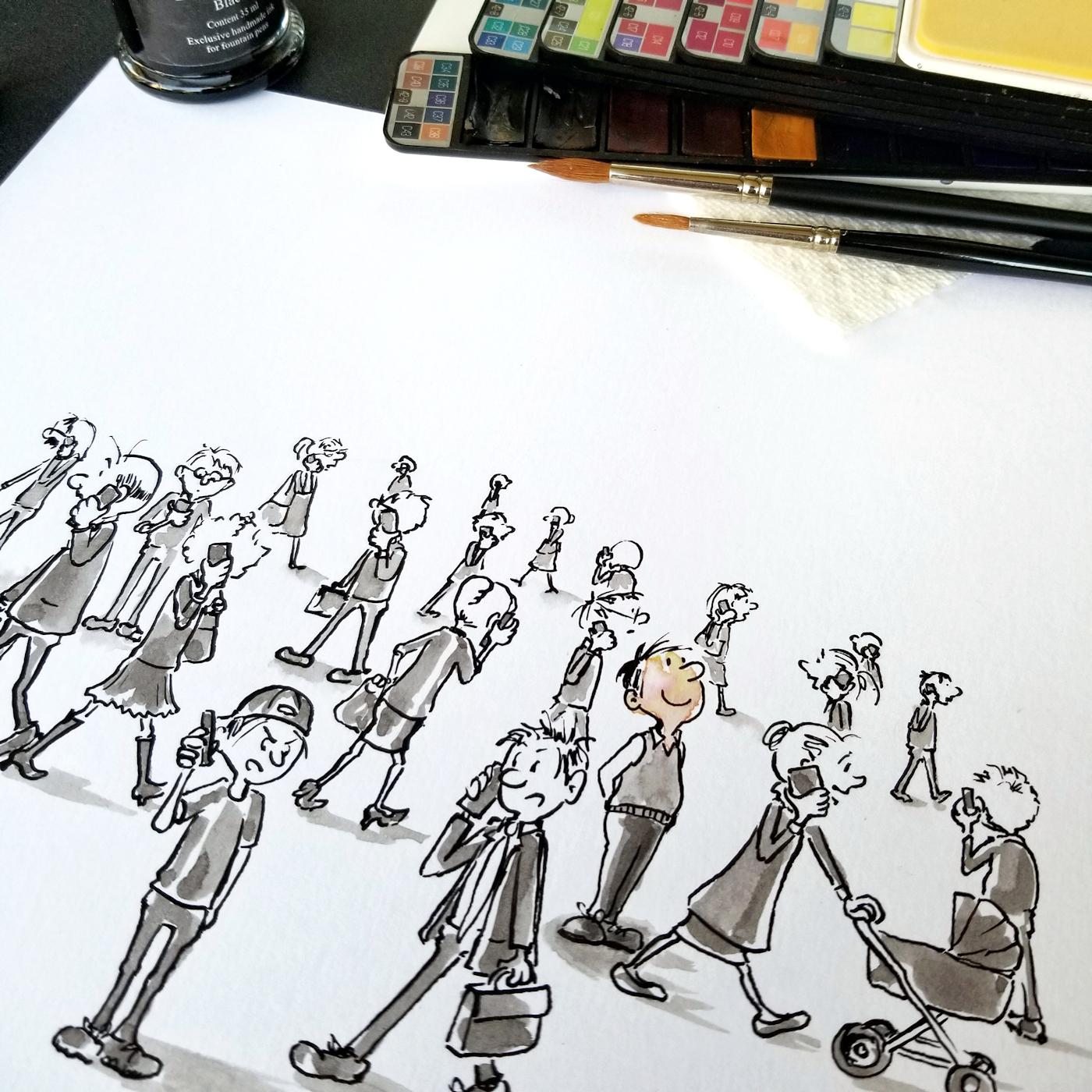 JMSC-170 Unplugged photo of original illustration by Joana Miranda - Detail1