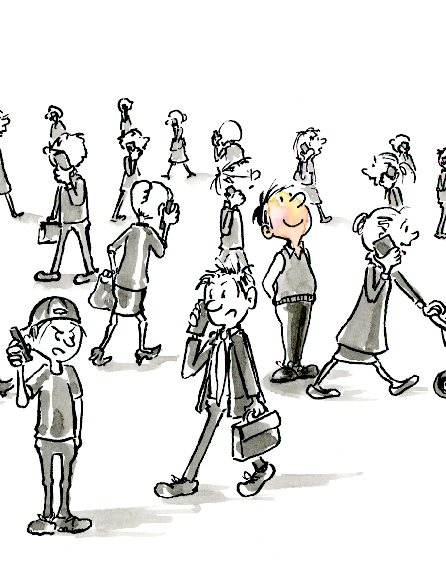 Unplugged - Ink Illustration by Joana Miranda Studio