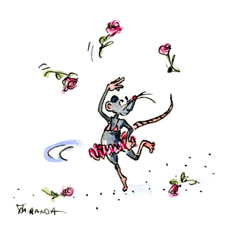 Animals - Dancing Mouse illustration by Joana Miranda