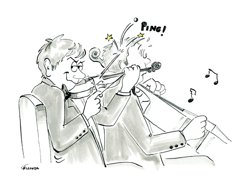 Orchestra Musicians - Cartoon by Joana Miranda