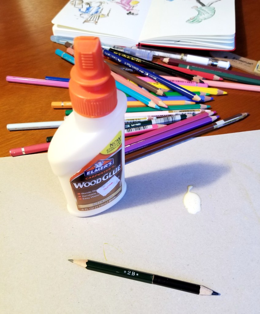 Clever hack for extending the life of a stubby colored pencil
