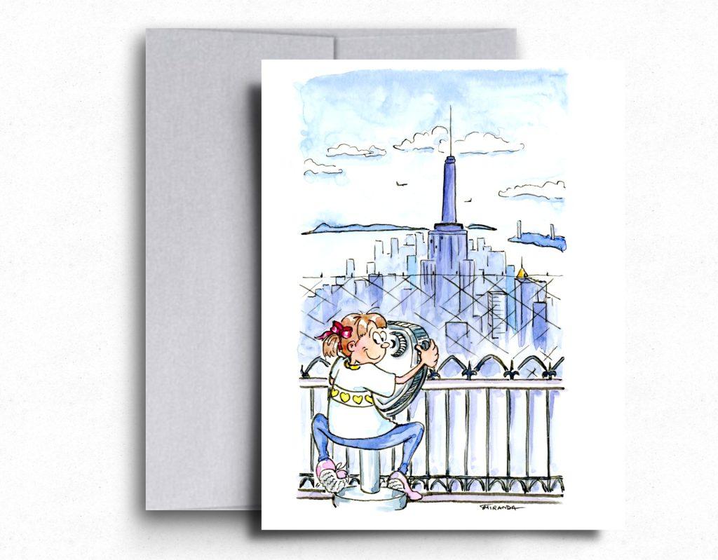 I love NY Greeting Cards - The Observation Deck - by Joana Miranda