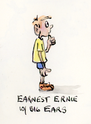 Earnest Ernie E Alphabet illustration by Joana Miranda