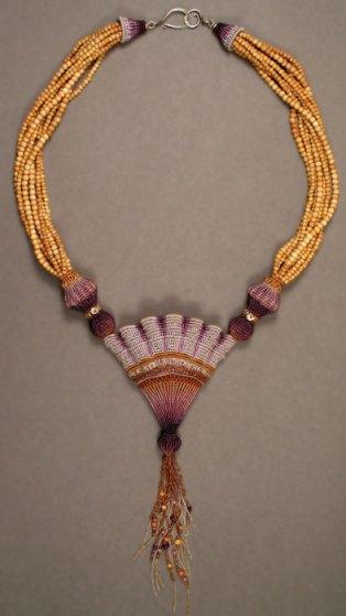 Purple Scallop Necklace