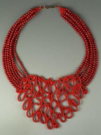 Red Coral Filigree Necklace