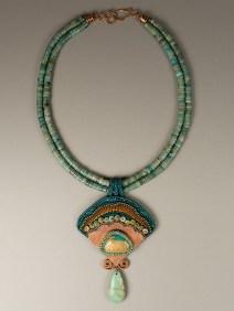 Copper & Turquoise Fan