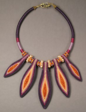 Purple Pods Necklace