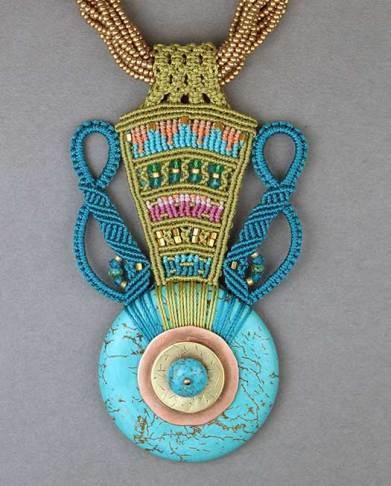 Blue Jar Necklace