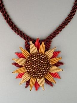 Sunflower in Yellow & Orange