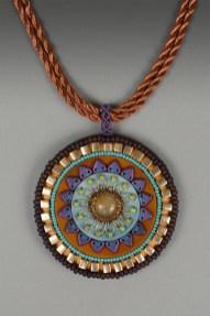 Mandala Pendant (Plum & Rust)