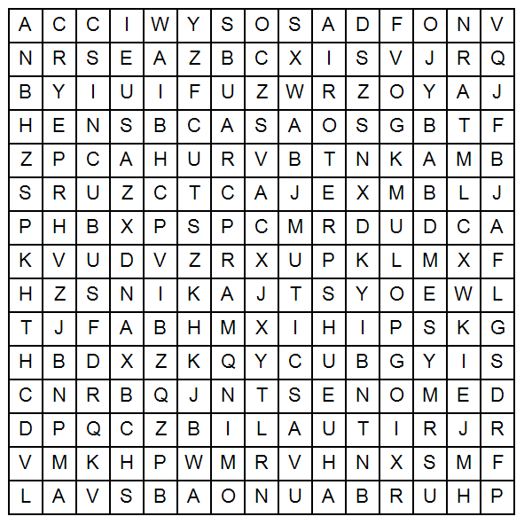 Burning Word search