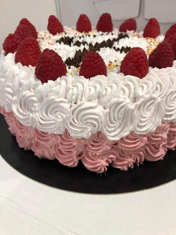 Layer cake choco framboises