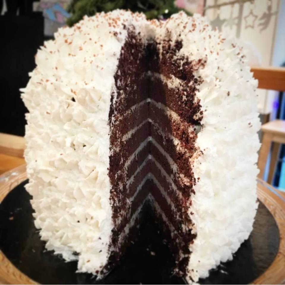 Layer cake choco coco vegan