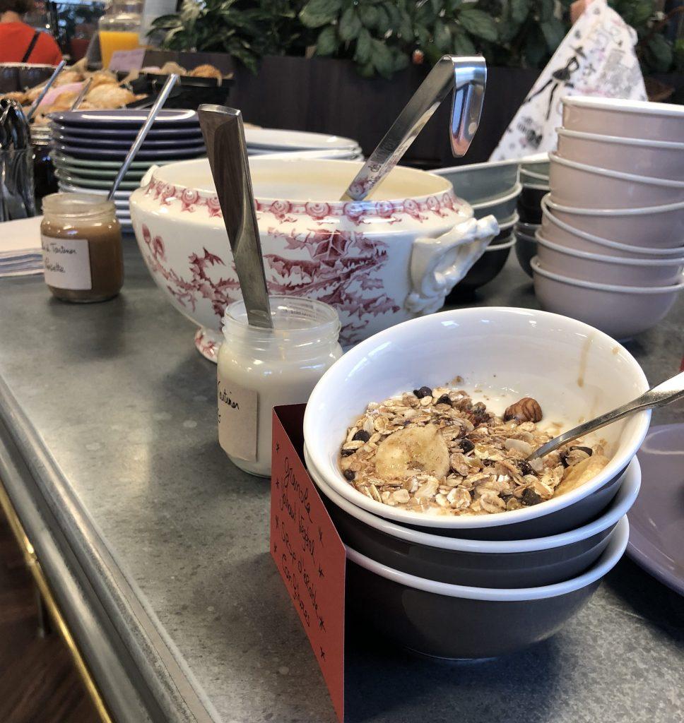 Granola maison vegan petit déjeuner entreprise