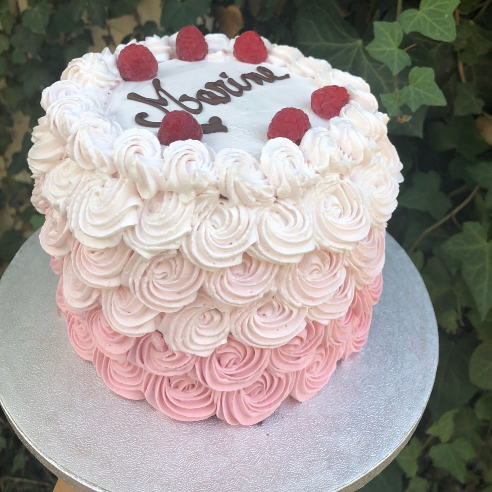 Layer cake chocolat framboises sans gluten