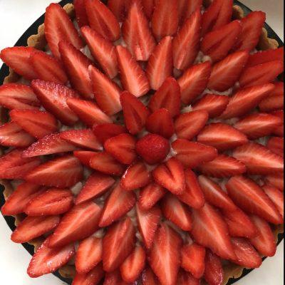 Tarte fraise vegan