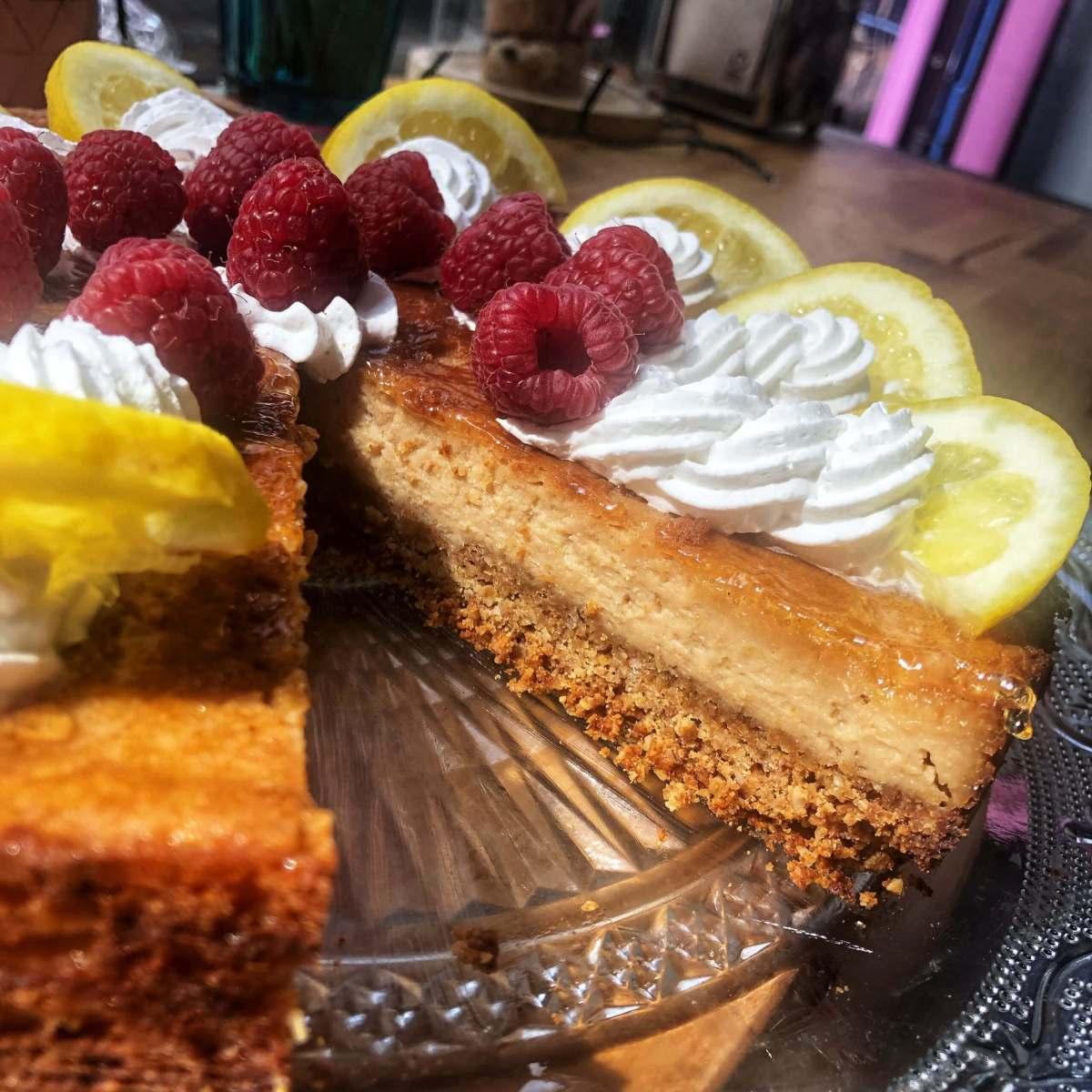 Cheesecake citron framboise