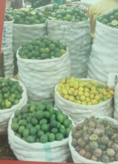 Limes, lemons and passion fruit