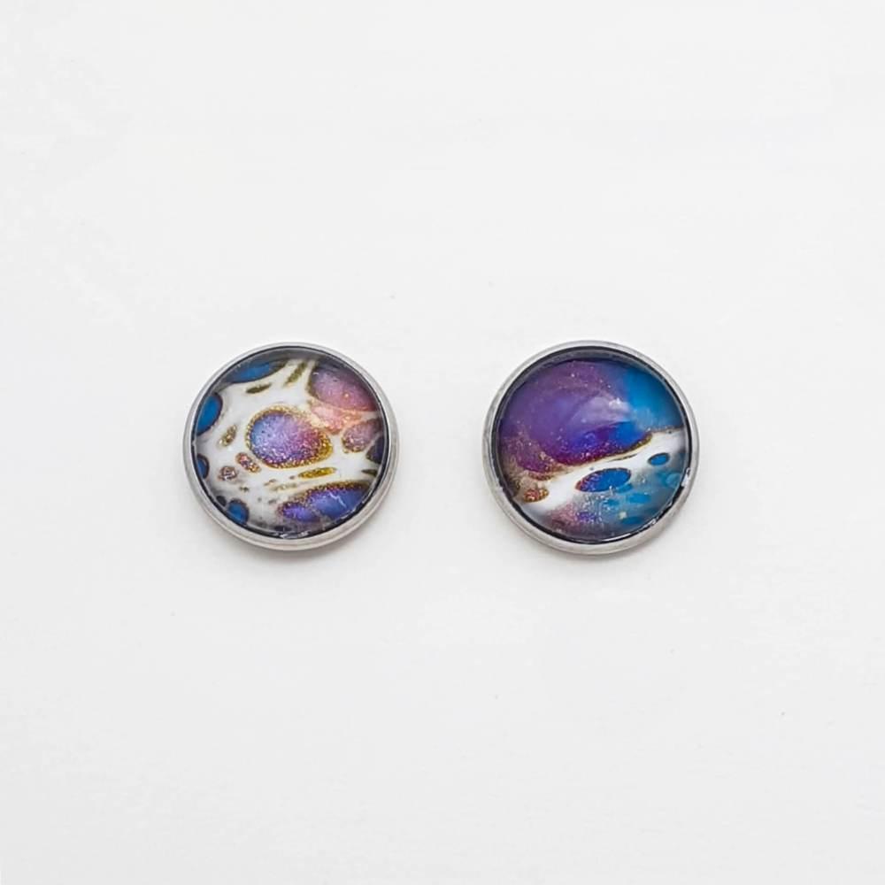 Boutons d'oreilles Galaxie - Zoom