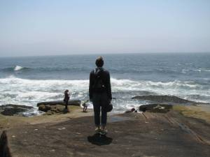 Joani at Baker Island