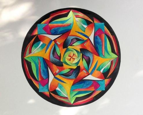 mandala door Anne-Mieke Bovelett