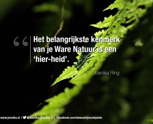 Quote van Joanika over je ware natuur