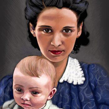 Maude Harlow Pettit & son, Joe Pettit
