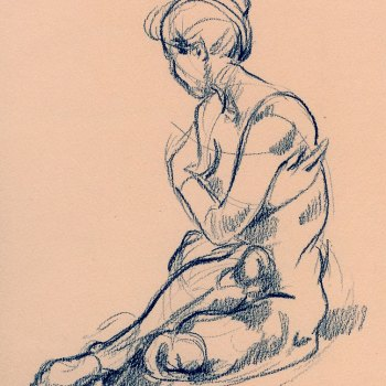 Drawing seated