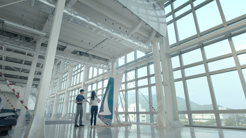 still from cathay pacific commercial livery relaunch commercial