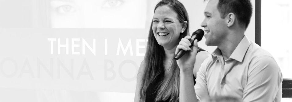 Joanna Bowers and Tony Verb speak at Creative Mornings