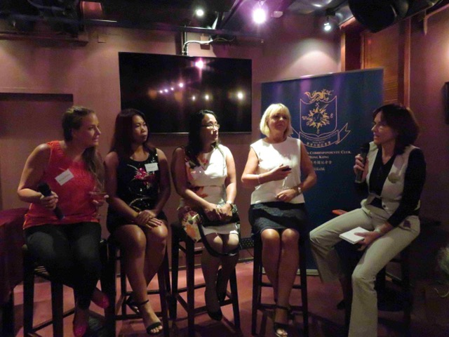 Panel at the Hong Kong Foreign Correspondents Club after The Helper documentary screening