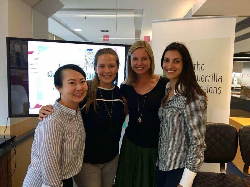 Director Joanna Bowers with the team from Li & Fung's Innovation Lab