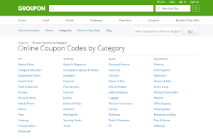 Groupon Coupons Search