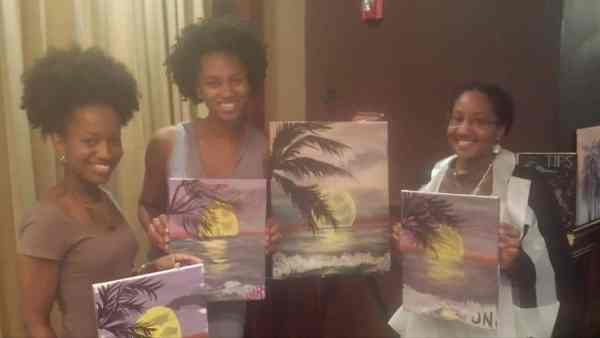 Paint nite at the Post office cafe