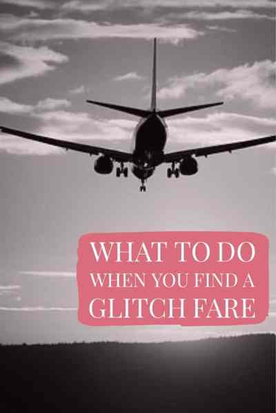 What to Do When You Find a Glitch Fare