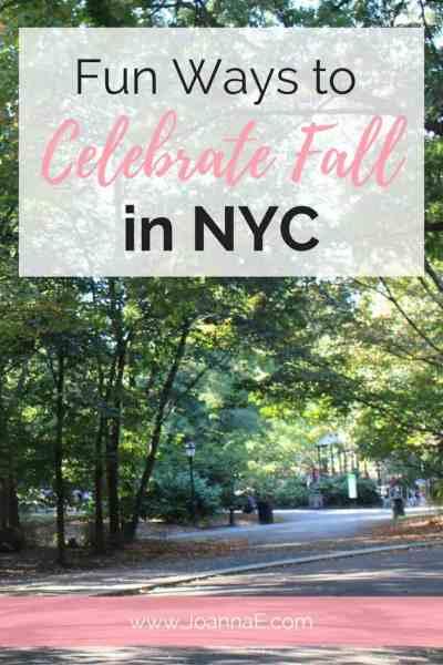 Fun Ways to Celebrate Fall in NYC