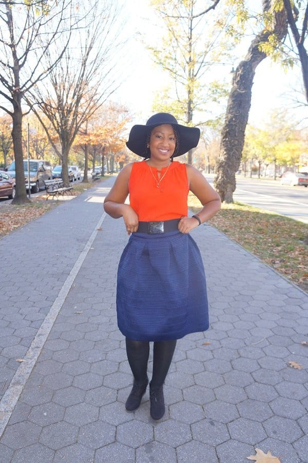 Full Skirt with Floppy Hat