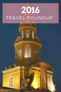 2016 Travel Roundup